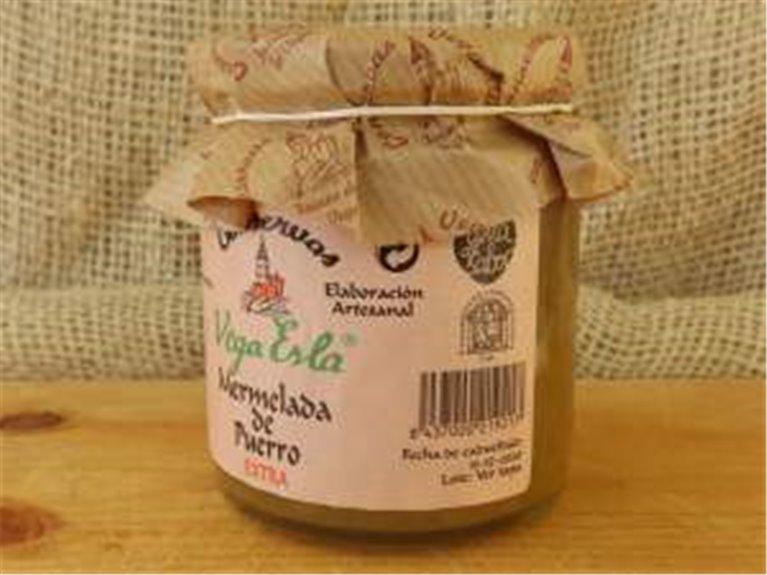 3 cajas de mermelada de puerro 36 tarros de 250 ml, 3 ud