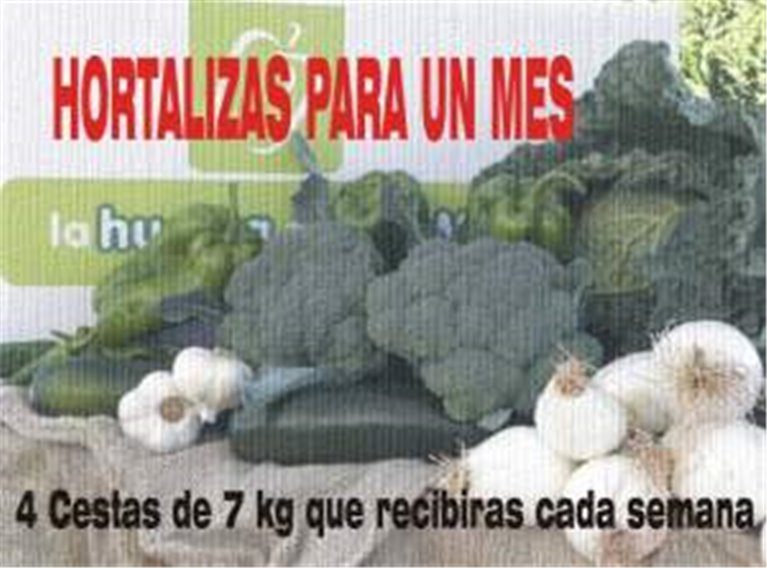 4 cajas de hortalizas 7 kg,..., 4 ud