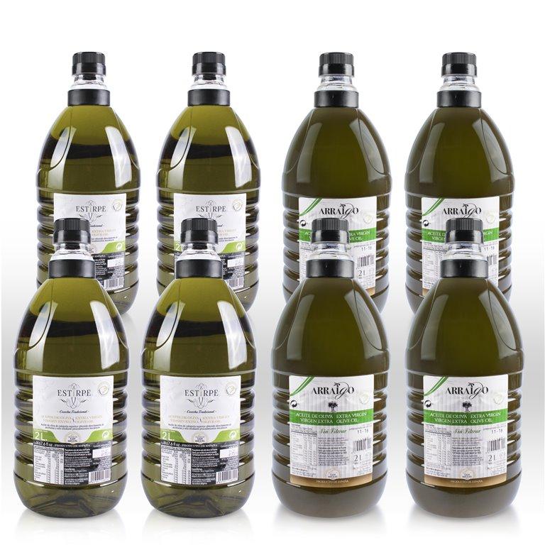 Lote Especial AOVE combinado - 4 u 8 garrafas de 2L