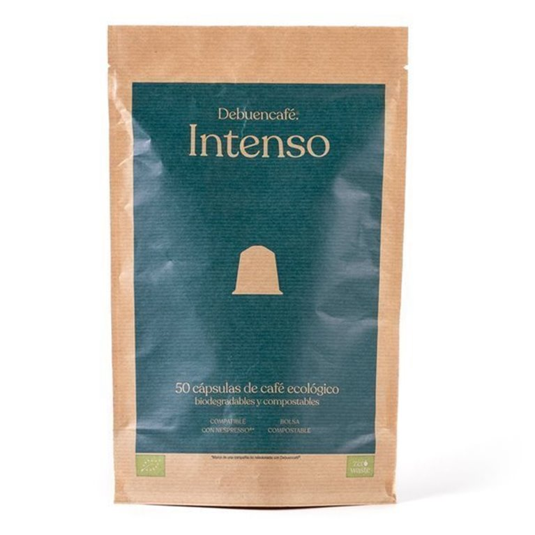 50 Debuencafé Compostable Capsules Compatible with Nespresso - INTENSE