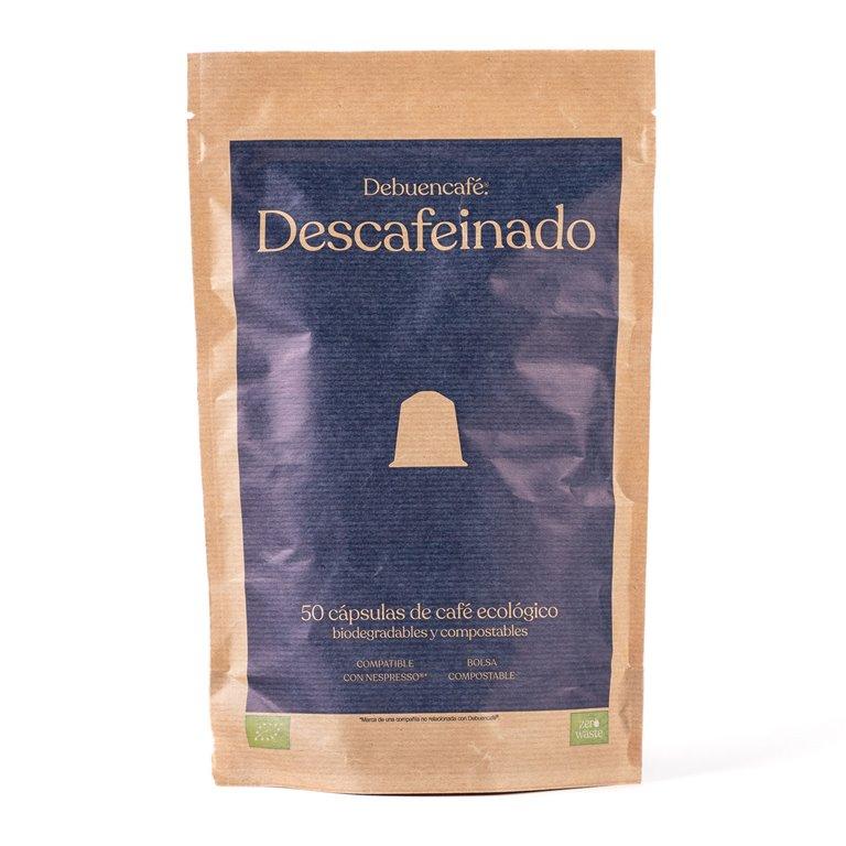 50 cápsulas compostables de café descafeinado ecológico