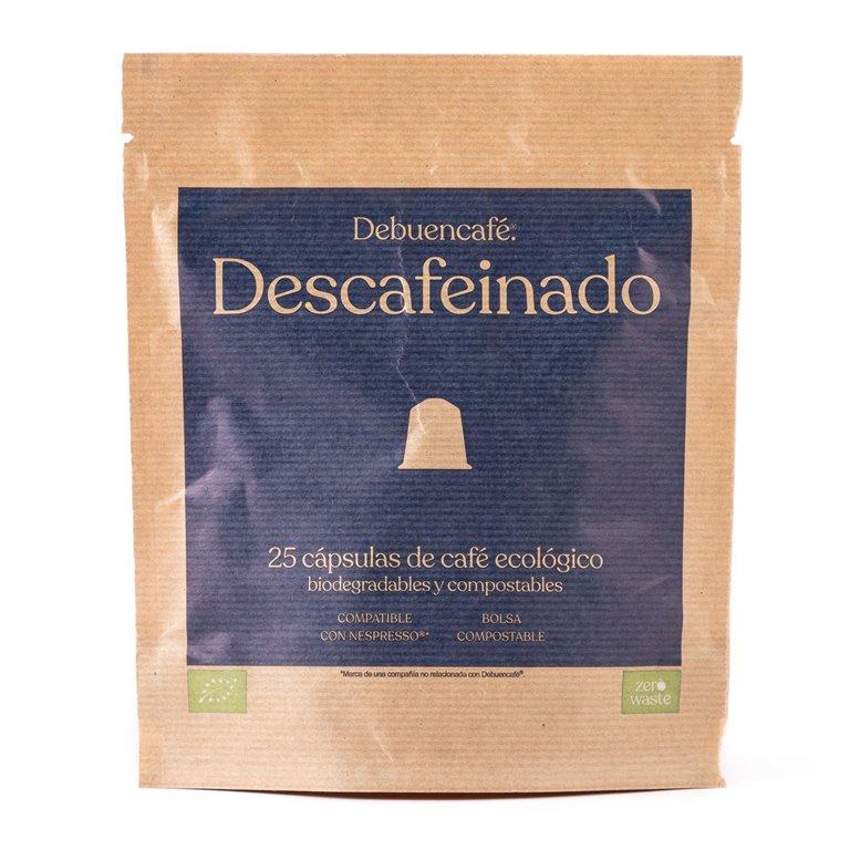 25 cápsulas compostables de café descafeinado ecológico