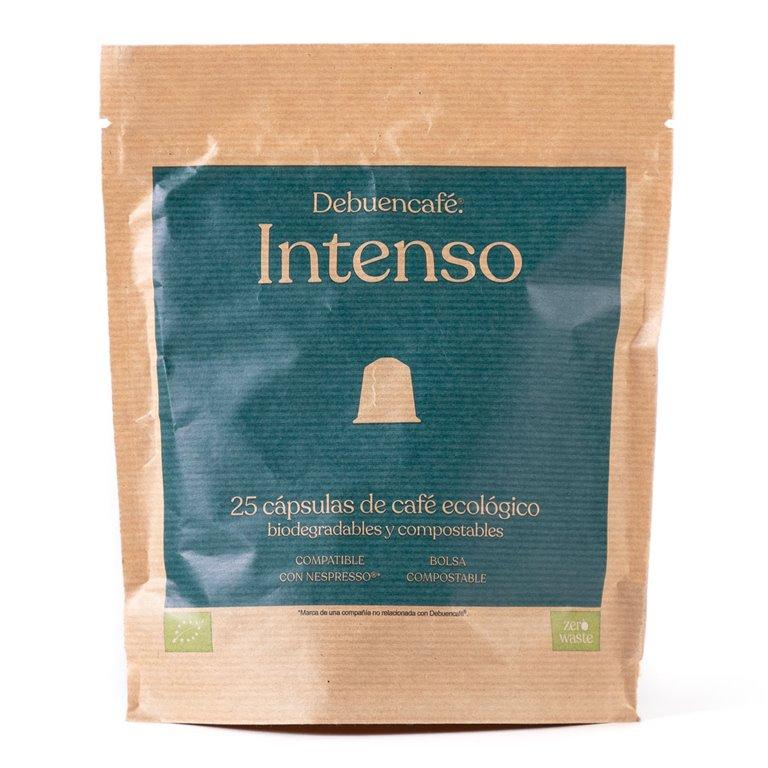 25 cápsulas compostables de café intenso ecológico