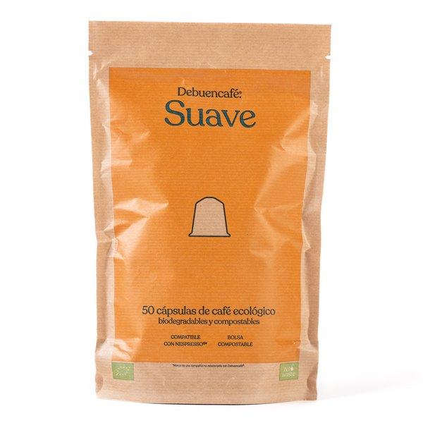 50 cápsulas compostables de café suave ecológico