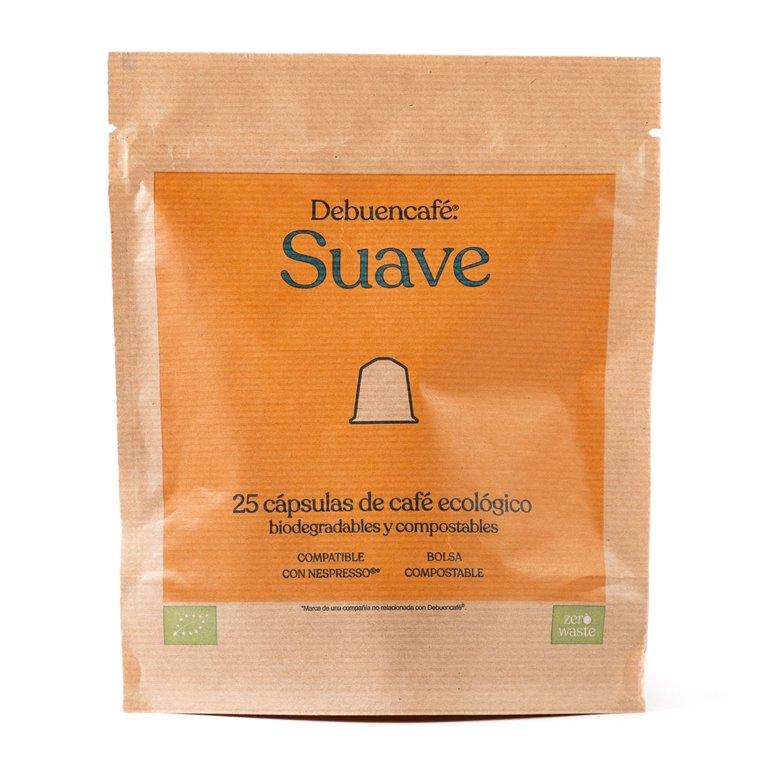 25 cápsulas compostables de café suave ecológico