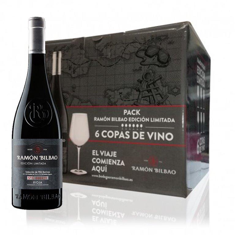 Caja 6 Botellas Ramon Bilbao Limited Edition + Regalo 6 Copas De La Marca .
