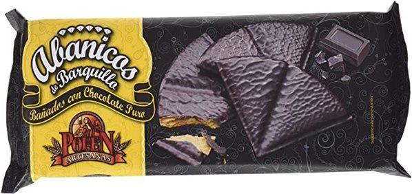 Abanicos con Chocolate Polen
