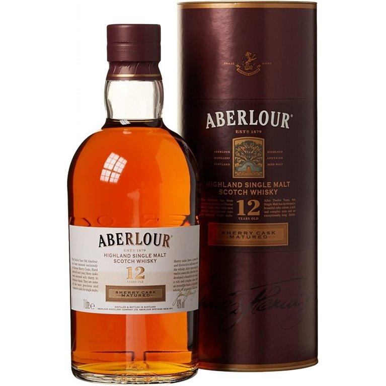 ABERLOUR 12 YO DOUBLE CASK 1L. + ESTUCHE