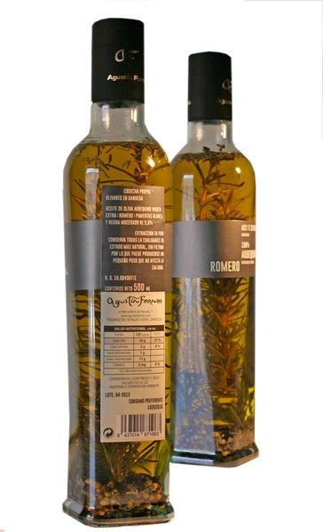 Aceite Agustín Fornos 100% Arbequina con romero