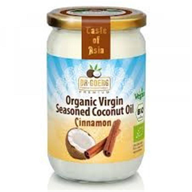 Aceite de Coco Virgen Sazonado con Canela Bio 175g
