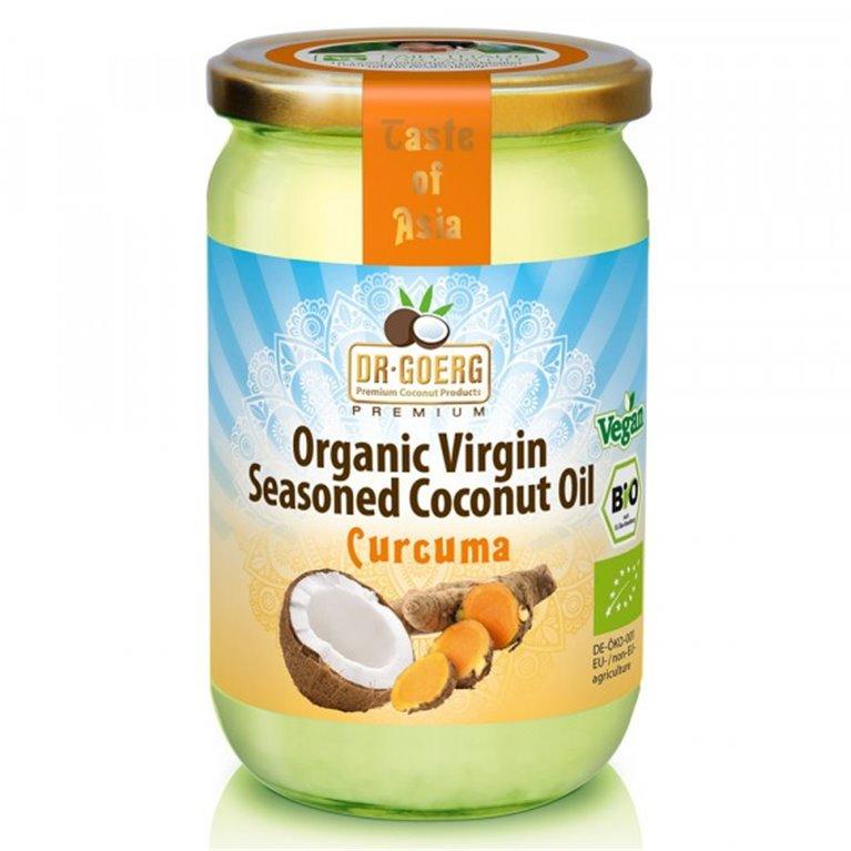 Aceite de Coco Virgen Sazonado con Cúrcuma Bio 175g