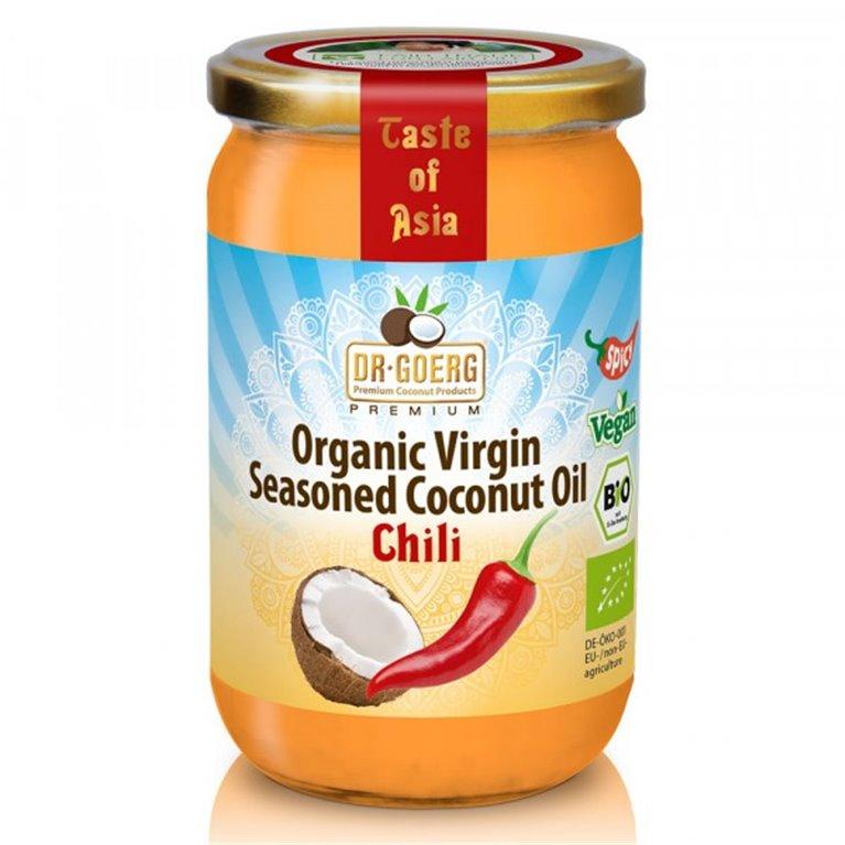 Aceite de Coco Virgen Sazonado con Guindilla Bio 175g