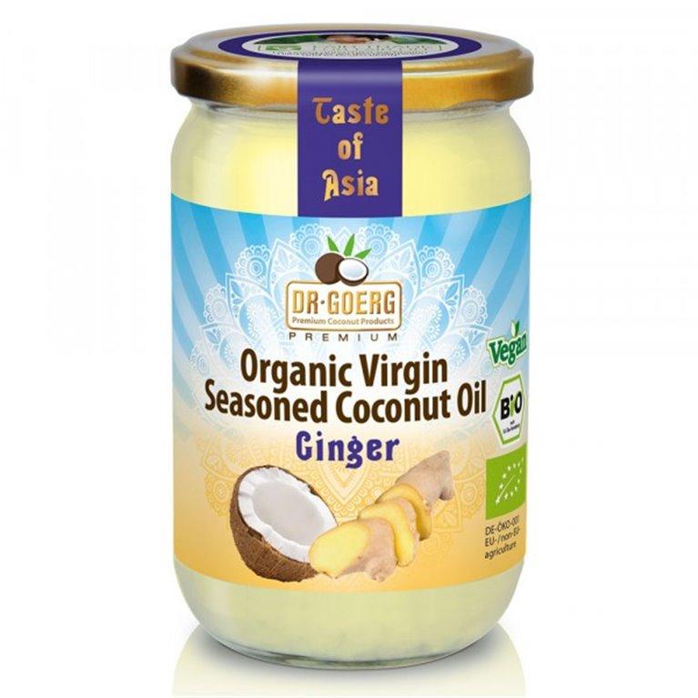Aceite de Coco Virgen Sazonado con Jengibre Bio 175g