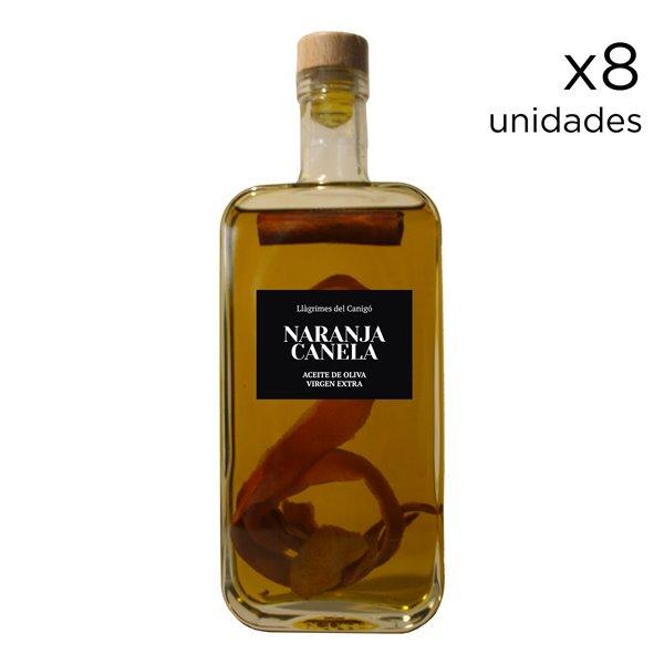 Aceite de Oliva Aromatizado con Naranja y Canela 0,5L - 8 unidades