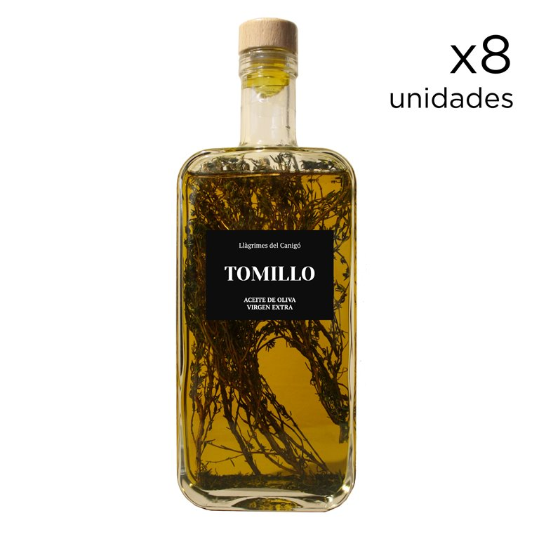 Aromatized Olive Oil with Thyme 0,5L - 8 units