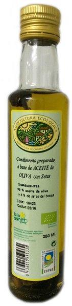 Aceite de oliva con setas