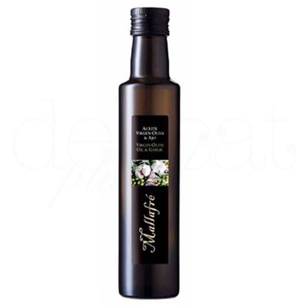 Aceite de oliva virgen con ajo 250ml. Mallafré. 12un.
