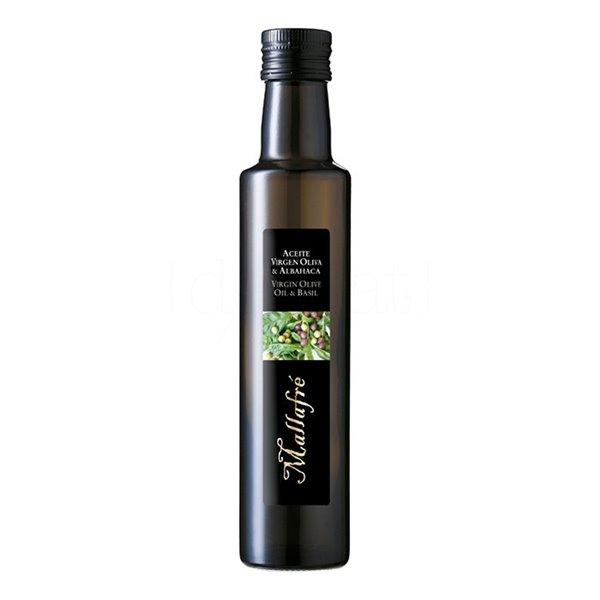 Aceite de oliva virgen con Albahaca 250ml. Mallafré. 12un.