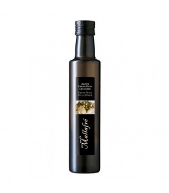 Aceite de oliva virgen con Jengibre 250ml. Mallafré. 12un.