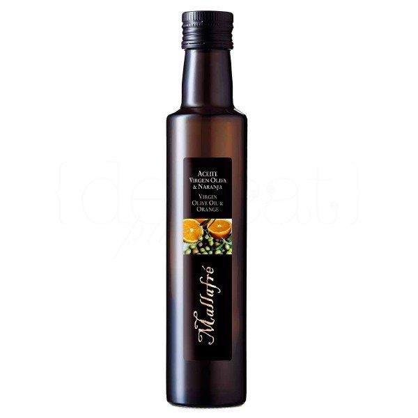 Aceite de oliva virgen con naranja 250ml. Mallafré. 12un.