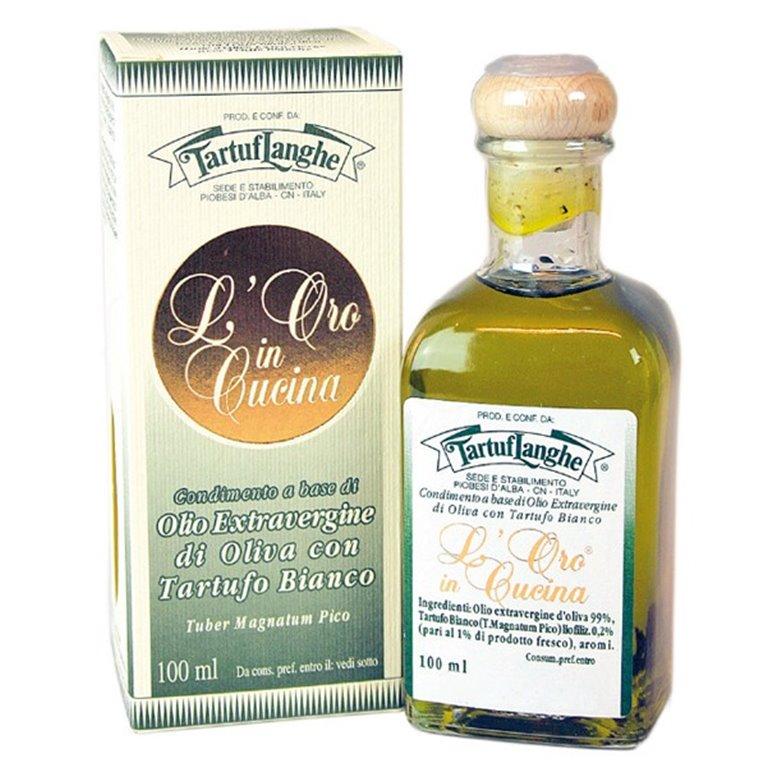 Aceite de Oliva Virgen Extra con Trufa Blanca 100ml. Tartuflanghe. 12un., 1 ud