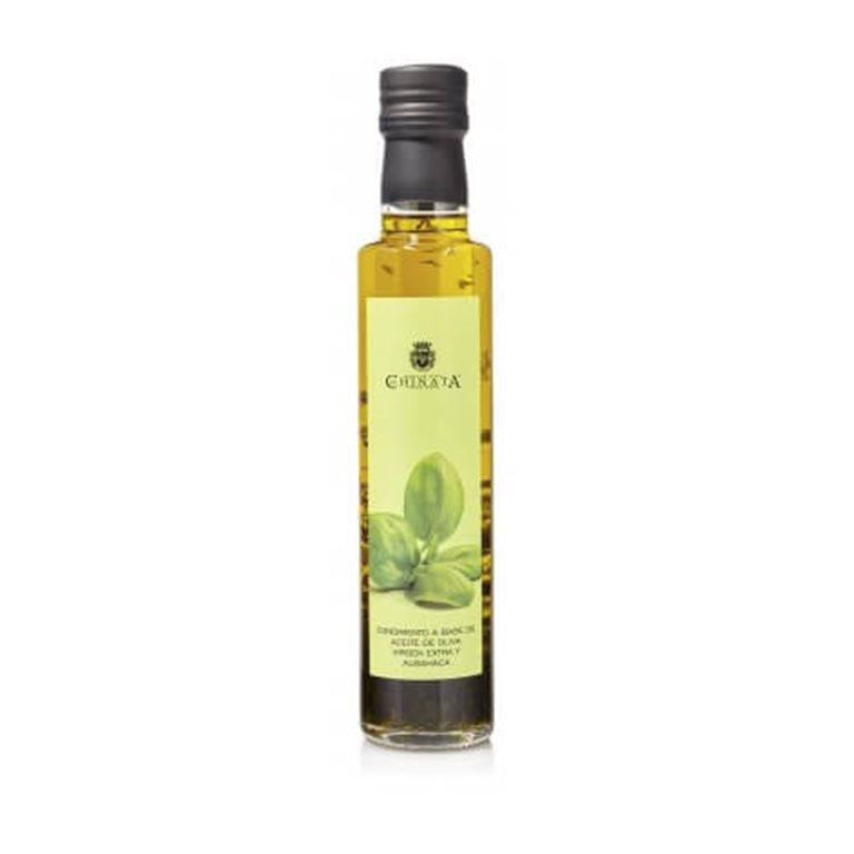 Aceite de oliva virgen extra condimento albahaca 250ml.