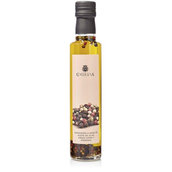 Aceite de oliva virgen extra condimento pimientas 250ml.
