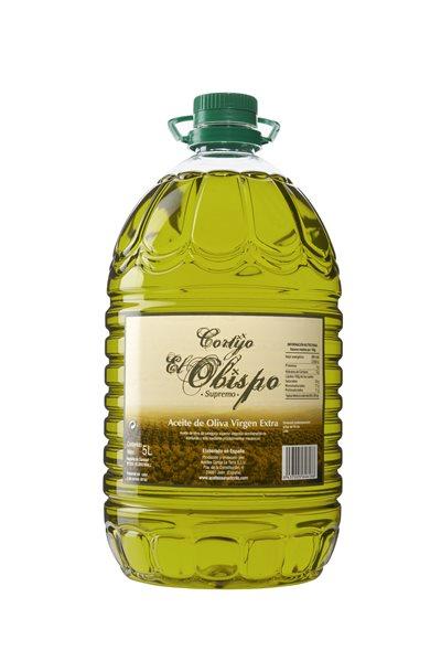 Aceite de oliva virgen extra. Cortijo el obispo Supremo. 5 Litros