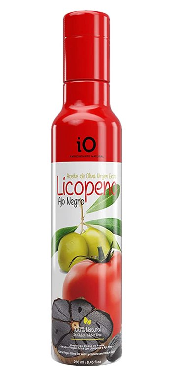 Aceite de Oliva Virgen Extra iO con Ajo Negro y Licopeno 250ml