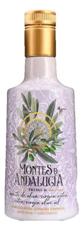 Aceite de oliva virgen extra. Montes de Andalucía Premium Royal. AOVE. 500 ml