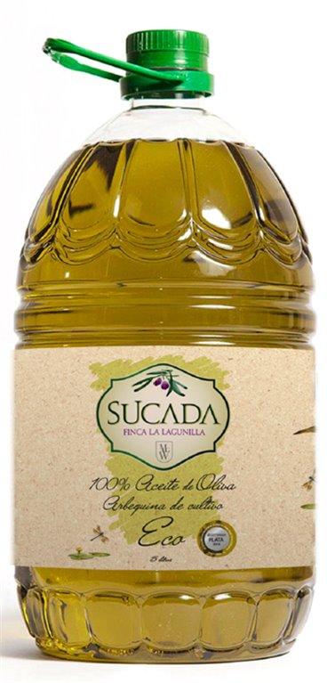 Aceite de Oliva Ecológico Sucada 5L, 1 ud