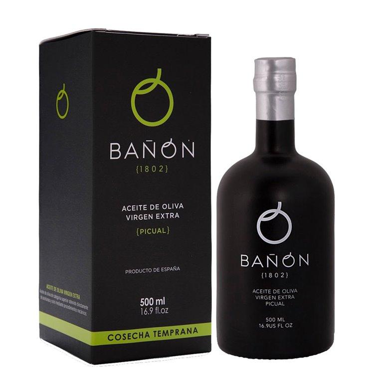 Aceites Bañón - Cosecha Temprana - Picual - 6 Estuches Botella 500 ml
