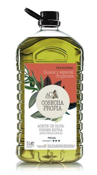 Aceites Castellar. Cosecha Propia.Tradicional. Picual. 5 Litros. Caja de 3 uds.