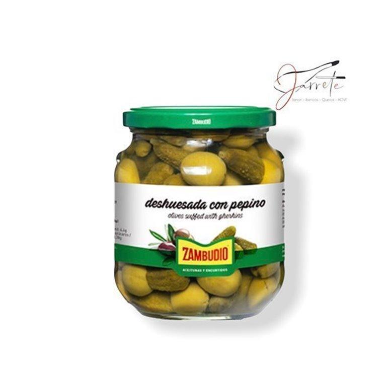 Aceituna Deshuesada Pepinillo - Tarro, 620 gr