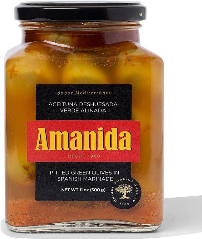 Aceituna deshuesada verde aliñada Amanida