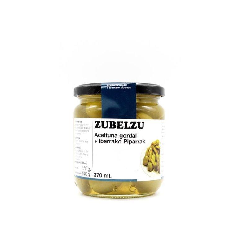 Aceituna Gordal Rellena de Guindilla Zubelzu  350 gr., 1 ud