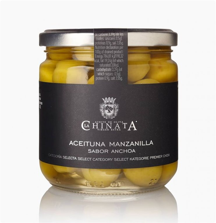 Aceituna Manzanilla sabor Anchoa