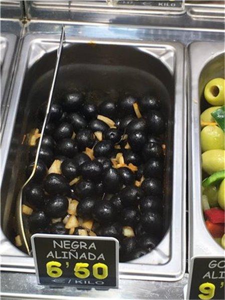 Aceituna negra aliñada