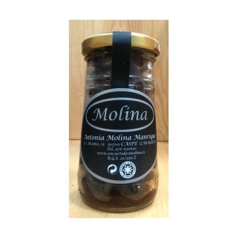 Aceituna negra Aragón arrugada con tomate seco Molina