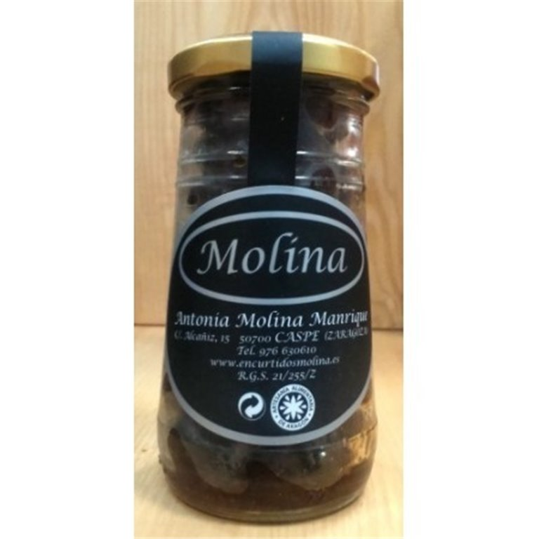 Aceituna negra Aragón arrugada con tomate seco Molina, 1 ud