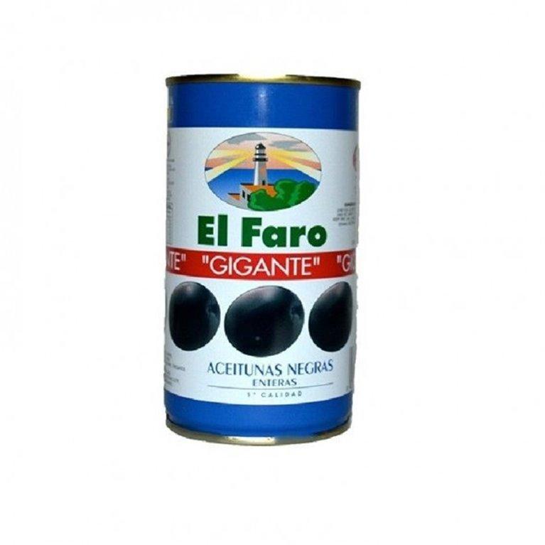 Aceituna negra con hueso el Faro 350 gr., 1 ud