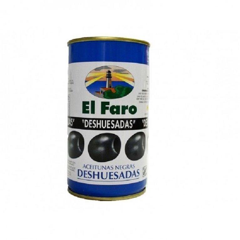 Aceituna negra deshuesada el Faro 350 gr., 1 ud