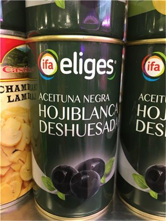 Aceituna negra Hojiblanca deshuesada
