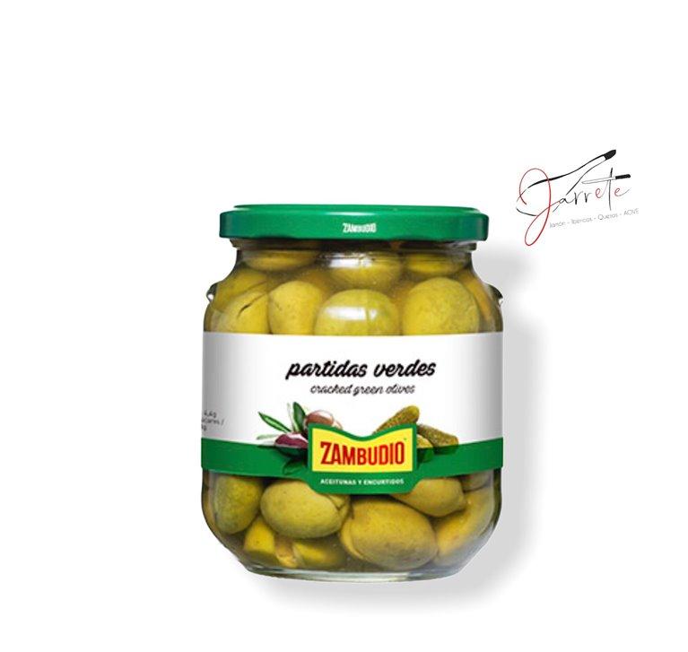 Aceituna Partida Verde - Tarro, 620 gr