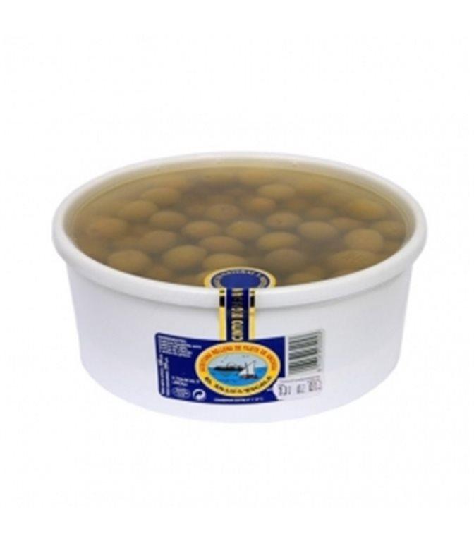 Aceituna rellena de filete de anchoa (tarrina 100 aceitunas) 680gr. Anxoves El Xillu. 2un.