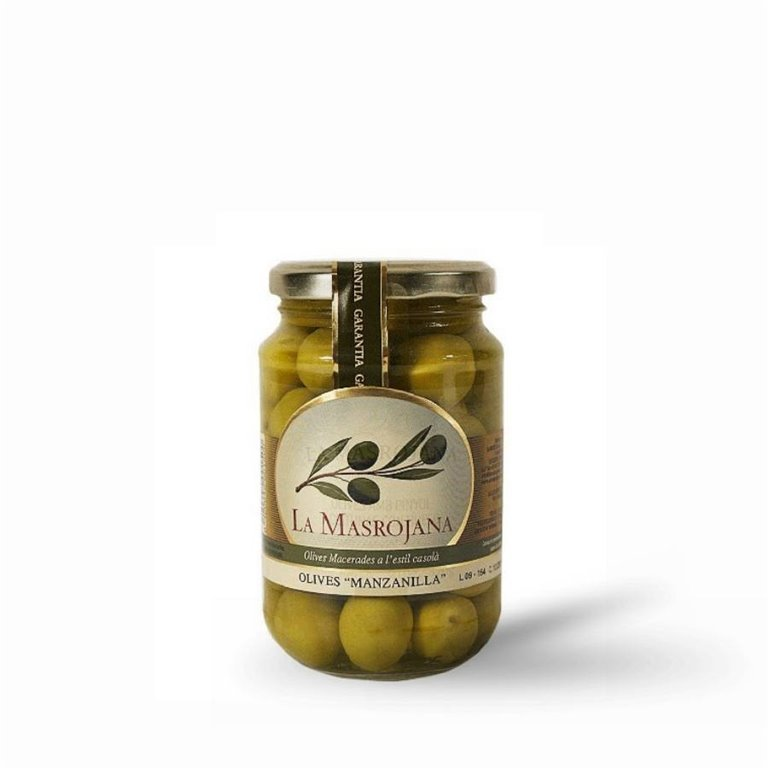 Aceitunas Manzanilla con hueso La Masrojana 220 gr., 1 ud