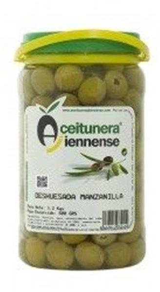 Aceitunas manzanilla deshuesada sabor anchoa. 6,50 Grs