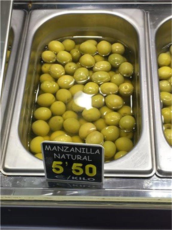 Aceitunas manzanilla natural