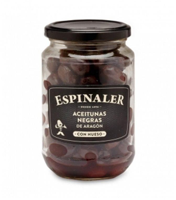 Aceitunas negras de Aragón 360gr. Espinaler. 12un.