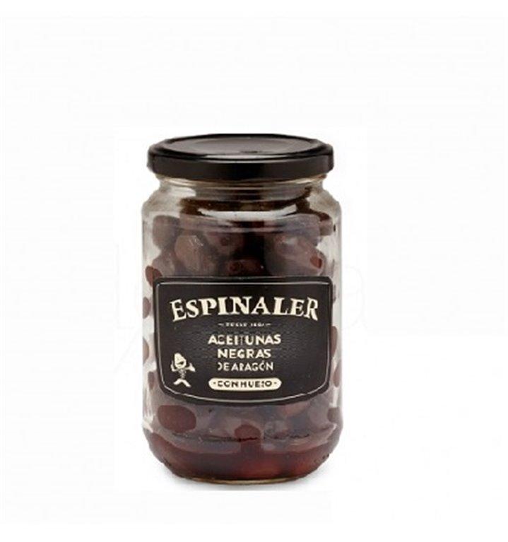 Aceitunas Negras de Aragón Espinaler Tarro 220 gr.